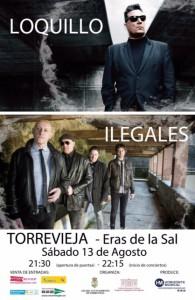 Concierto Loquillo + Ilegales @ Eras de la Sal   Torrevieja   Comunidad Valenciana   España
