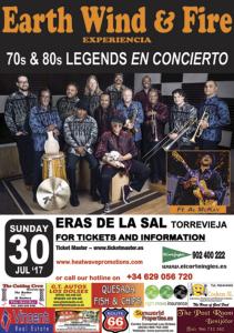 Earth Wind and Fire @ Eras de la Sal | Torrevieja | Comunidad Valenciana | Espa