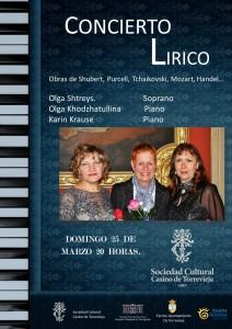 Concierto Lírico @ Sociedad Cultural Casino de Torrevieja | Torrevieja | Comunidad Valenciana | España