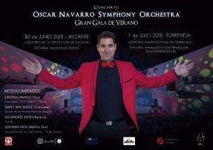 Gran Gala de Verano: Oscar Navarro Symphony Orchestra @ Auditorio Internacional | Torrevieja | Comunidad Valenciana | Espa