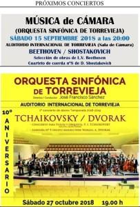 Joven Orquesta Sinfónica de Torrevieja: Tchaikovsky/Dvorak @ Auditorio Internacional | Torrevieja | España