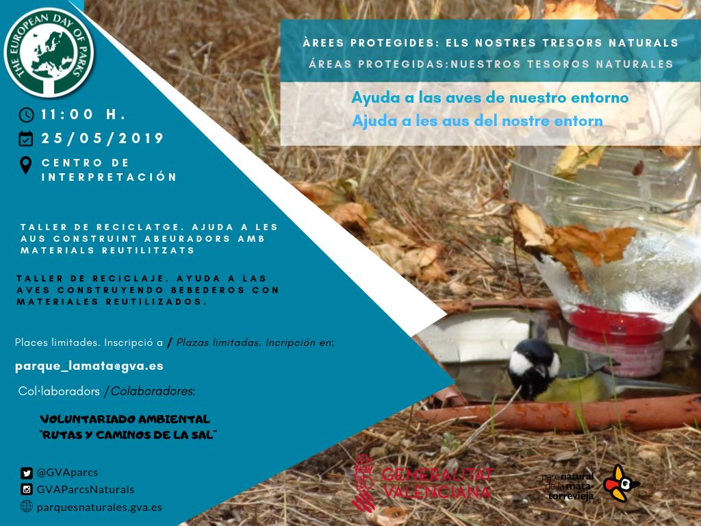 Ayuda a las aves de nuestro entorno @ Parque Natural de La Mata Torrevieja