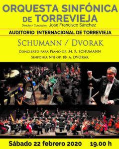 Orquesta Sinfónica de Torrevieja: Schumann / Dvorak @ Auditorio Internacional de Torrevieja
