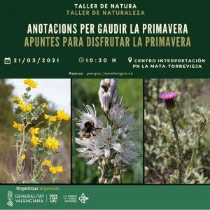 APUNTES PARA DISFRUTAR LA PRIMAVERA (taller de naturaleza) @ Parque Natural de la Mata