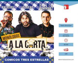 """Comicos tres estrellas """"Monólogos a la carta"""" @ Teatro Municipal deTorrevieja"""