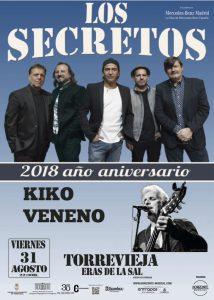 Concierto Los Secretos y Kiko Veneno @ Eras de la Sal | Torrevieja | Comunidad Valenciana | Espa