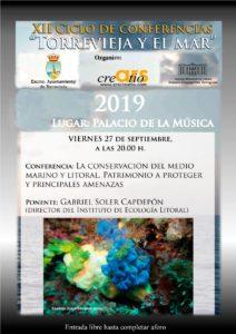 XII Ciclo de Conferencias Torrevieja y El Mar @ Palacio de la Música