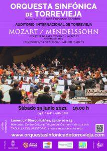 Orquesta Sinfónica de Torrevieja: Mozart y Mendelssohn @ Auditorio Internacional de Torrevieja