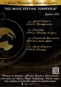 "Festival Internacional de música clásica y ópera: ""Sol Music Festival Torrevieja"" @ Audiorio Internacional"