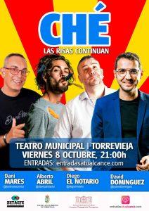 "Monólogos ""Ché, las risas continúan"" @ Teatro Municipal deTorrevieja"